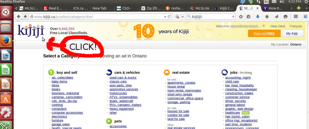 edit my kijiji ad how to change quot my location quot in kijiji 10840